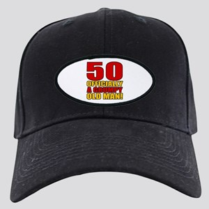 Grumpy 50th Birthday Black Cap