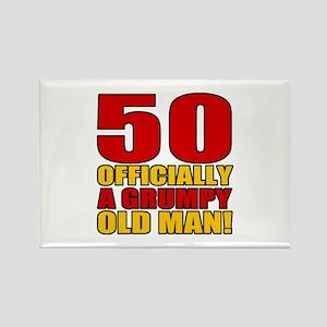 Grumpy 50th Birthday Rectangle Magnet