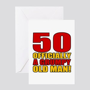 Funny 50th birthday greeting cards cafepress grumpy 50th birthday greeting card m4hsunfo
