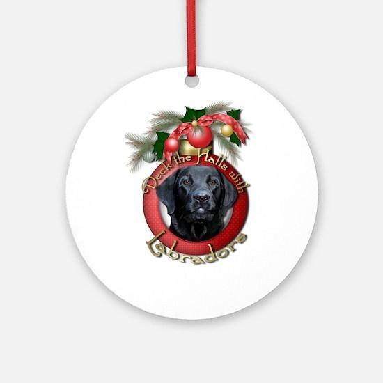 Christmas - Deck the Halls - Labradors Ornament (R