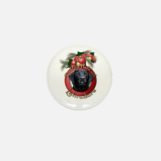 Christmas - Deck the Halls - Labradors Mini Button