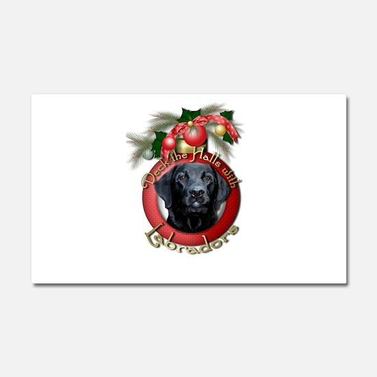Christmas - Deck the Halls - Labradors Car Magnet