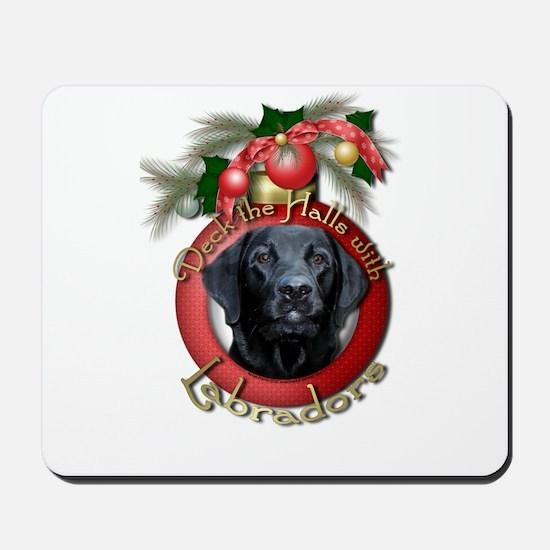 Christmas - Deck the Halls - Labradors Mousepad