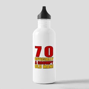 Grumpy 70th Birthday Stainless Water Bottle 1.0L