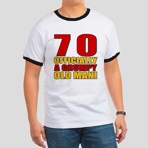 Grumpy 70th Birthday Ringer T