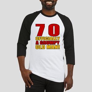 Grumpy 70th Birthday Baseball Jersey