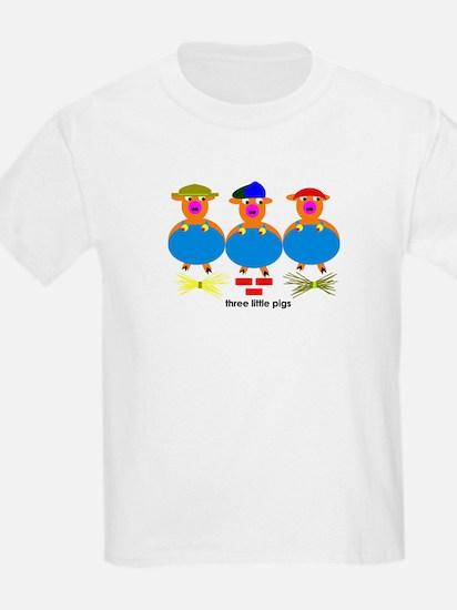 Three Little Pigs Kids T-Shirt