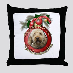 Christmas - Deck the Halls - GoldenDoodles Throw P