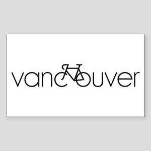 Bike Vancouver Sticker (Rectangle)