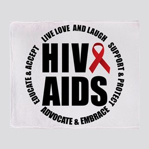 HIV/AIDS Throw Blanket
