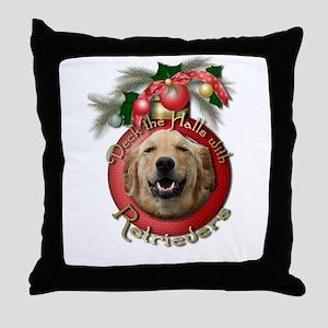 Christmas - Deck the Halls - Retrievers Throw Pill