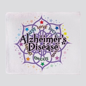 Alzheimers Lotus Throw Blanket