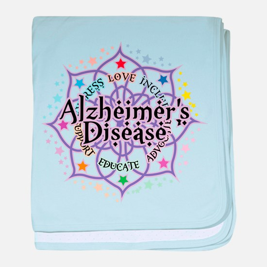 Alzheimers Lotus baby blanket