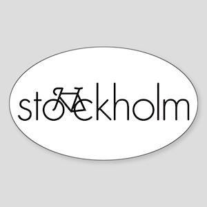 Bike Stockholm Sticker (Oval)