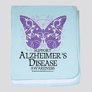 Alzhimers Butterfly 4 baby blanket