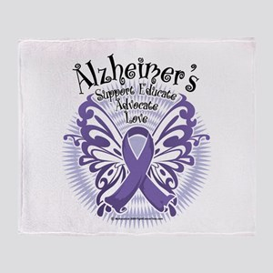 Alzheimers Butterfly 3 Throw Blanket