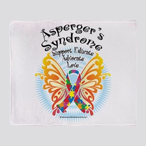 Asperger's Syndrome Butterfly Throw Blanket