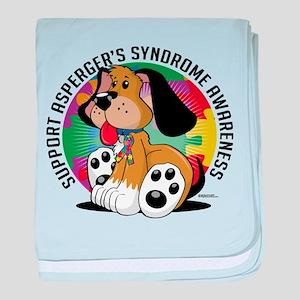 Asperger's Syndrome Dog baby blanket