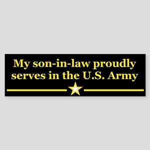 Son-in-law serves Bumper Sticker