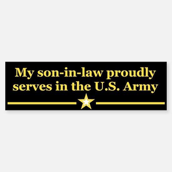 Son-in-law serves Bumper Bumper Bumper Sticker
