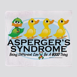 Asperger's Syndrome Ugly Duck Throw Blanket