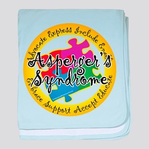 Asperger's Syndrome Puzzle Pi baby blanket