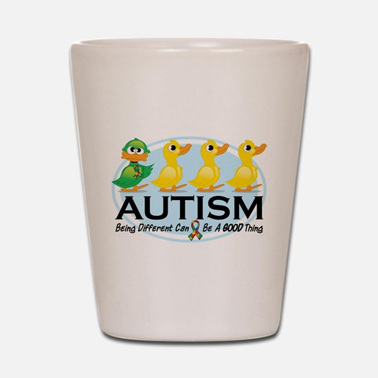 Autism Ugly Duckling Shot Glass