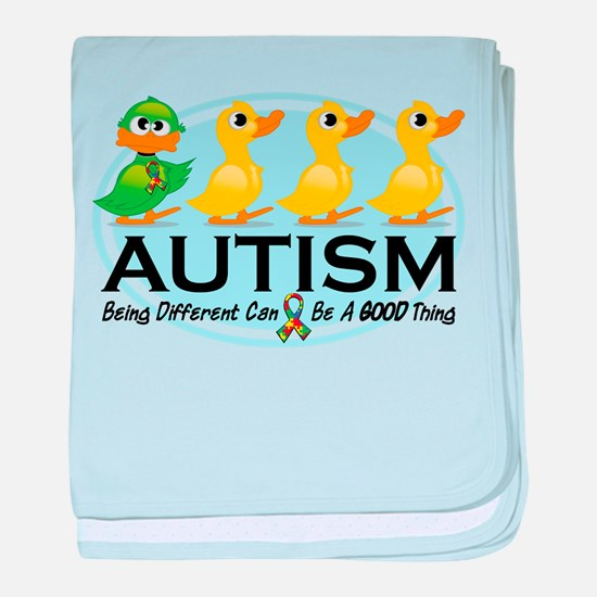 Autism Ugly Duckling baby blanket