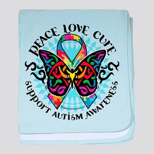 Autism Tribal Butterfly 2 baby blanket