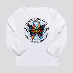 Autism Tribal Butterfly 2 Long Sleeve Infant T-Shi