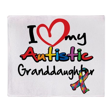 My Autistic Granddaughter Throw Blanket