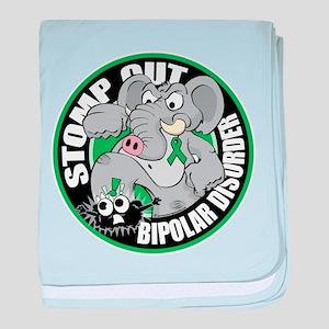 Stomp Out Bipolar Disorder baby blanket