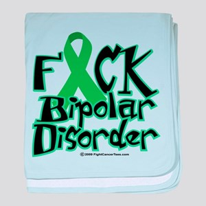 Fuck Bipolar Disorder baby blanket