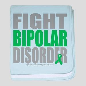 Fight Bipolar Disorder baby blanket