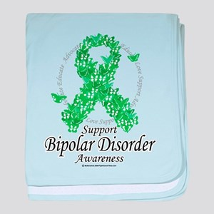 Bipolar Disorder Ribbon of Bu baby blanket