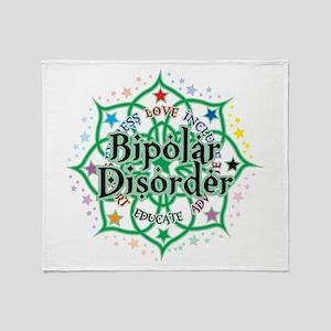 Bipolar Disorder Lotus Throw Blanket