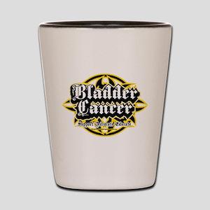 Bladder Cancer Tribal Shot Glass