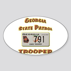 Georgia State Patrol Sticker (Oval)