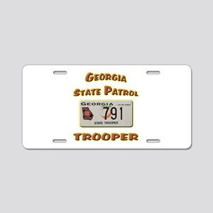 Georgia State Patrol Aluminum License Plate