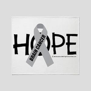 Brain Cancer Hope Throw Blanket