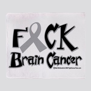 Fuck Brain Cancer Throw Blanket