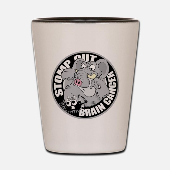 Stomp Out Brain Cancer Shot Glass