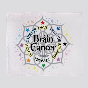 Brain Cancer Lotus Throw Blanket