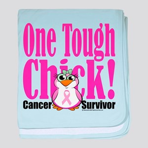 One Tough Chick 2 baby blanket