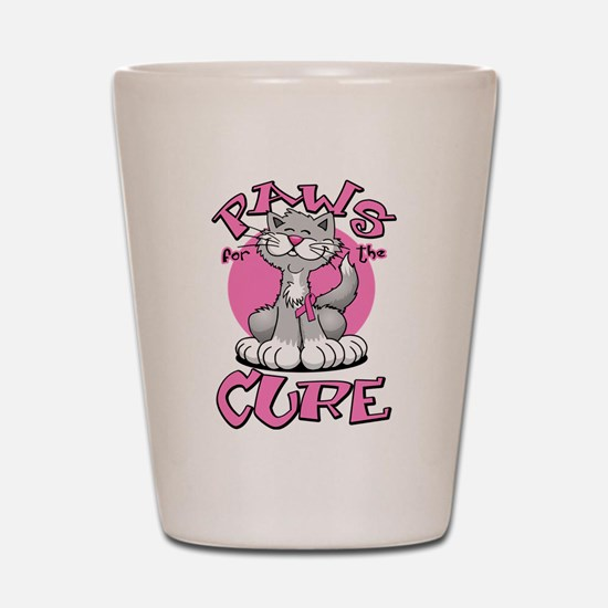 Paws for the Cure Shot Glass