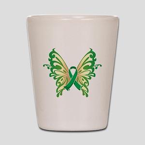 Cerebral Palsy Butterfly Shot Glass