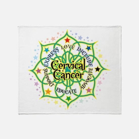 Cervical Cancer Lotus Throw Blanket