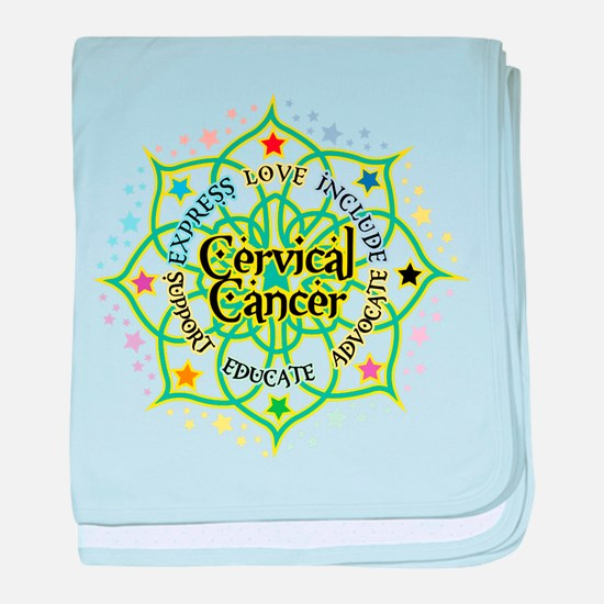 Cervical Cancer Lotus baby blanket