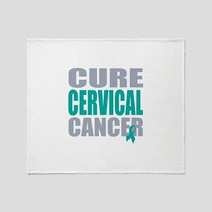 Cure Cervical Cancer Throw Blanket