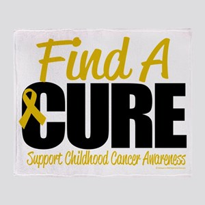 Childhood Cancer Find A Cure Throw Blanket